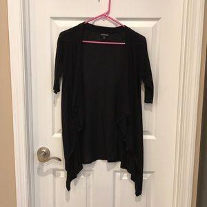 Half Sleeve Black Cardigan